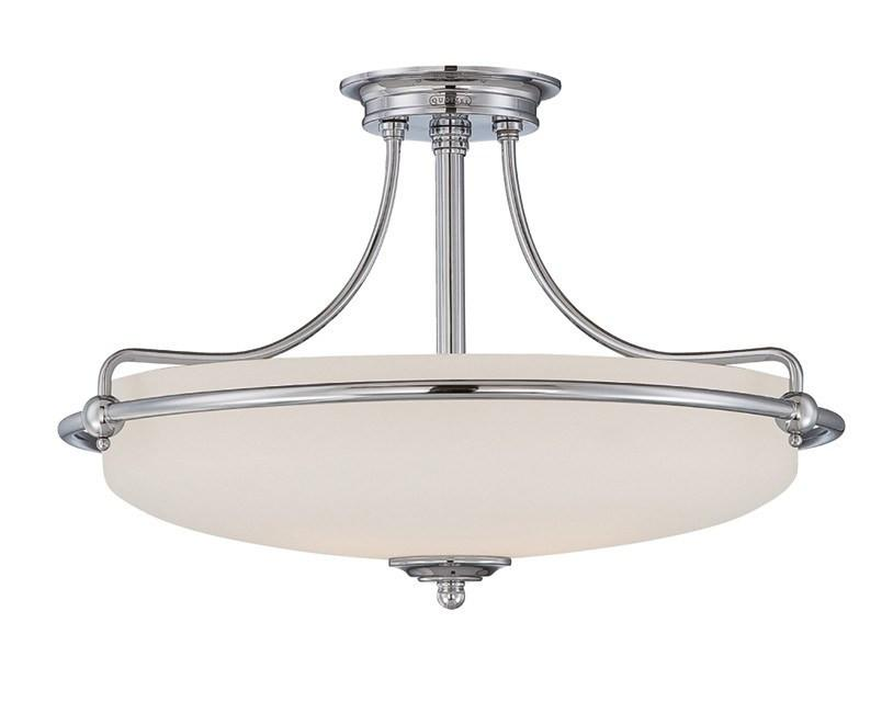 Griffin Large Semi-Flush Light in Chrome - London Lighting - 1