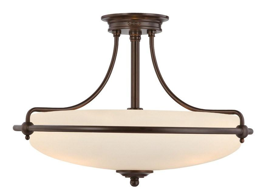 Griffin Large Semi-Flush Light Bronze - London Lighting - 1