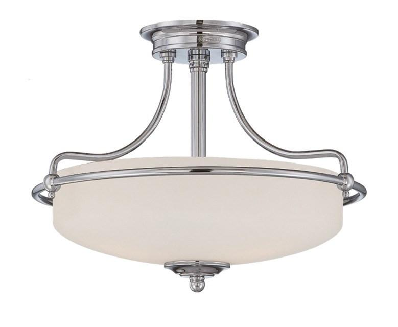 Griffin Small Semi-Flush Light in Chrome - London Lighting - 1