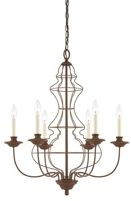Laila 6 Lamp Chandelier - London Lighting - 1