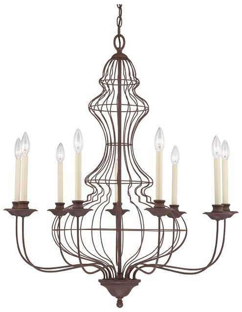 Laila 9 Lamp Chandelier - London Lighting - 1