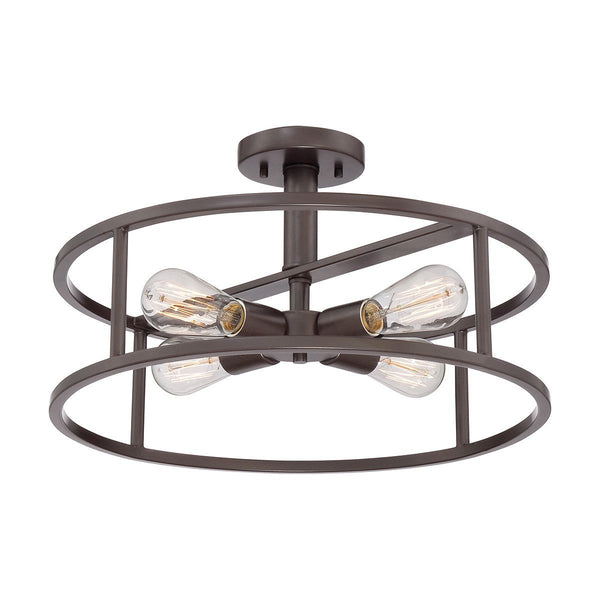 Quoizel New Harbor Semi-Flush - London Lighting - 1