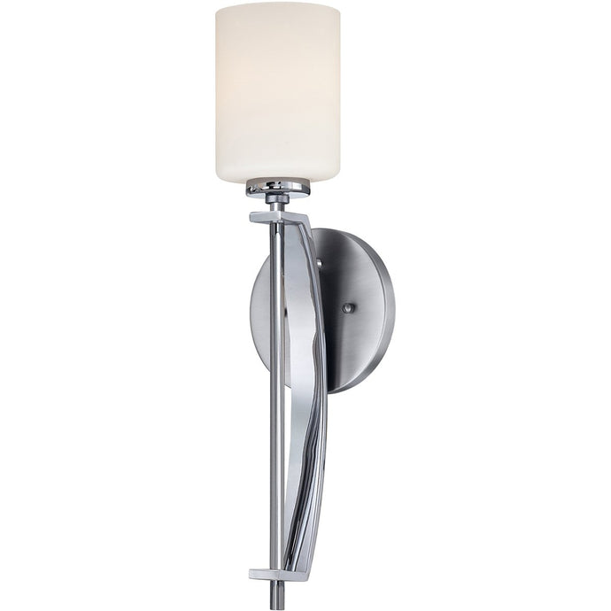 Taylor One Light Polished Chrome Large Wall Light