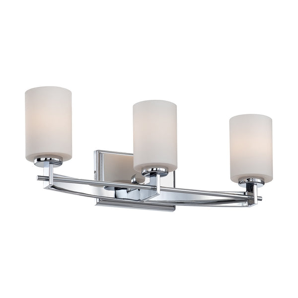 Taylor Three Light Polished Chrome Above Mirror Light
