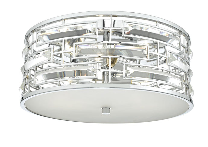 Kingston Polished Chrome and Crystal Flush - ID 6986