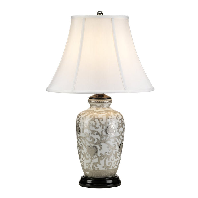 Sanderstead Silver Table Lamp c/w Shade - ID 8457