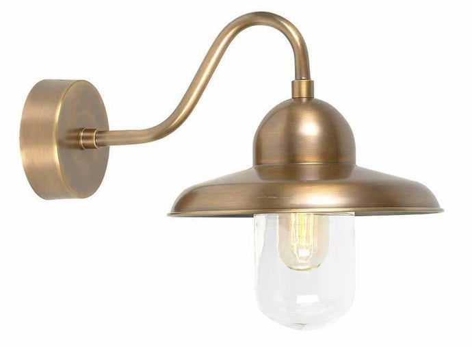 Somerton Brass Outdoor Wall Light - London Lighting - 1