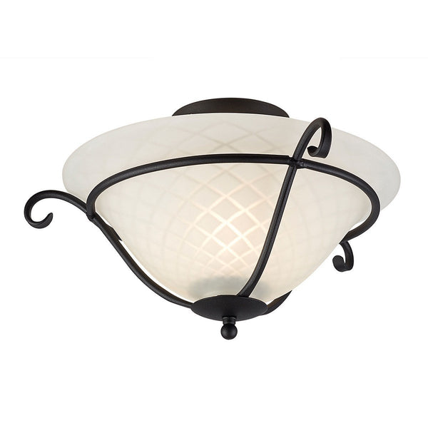 Torchiere Flush Black - London Lighting - 1