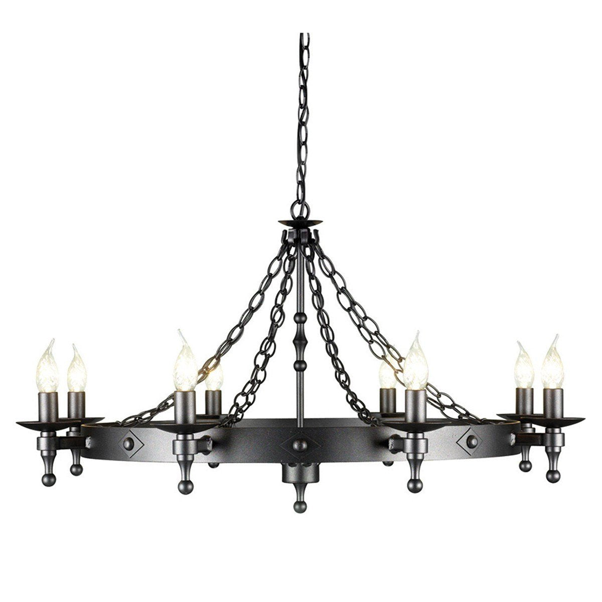 Warwick 8 Light Chandelier Graphite - London Lighting - 1