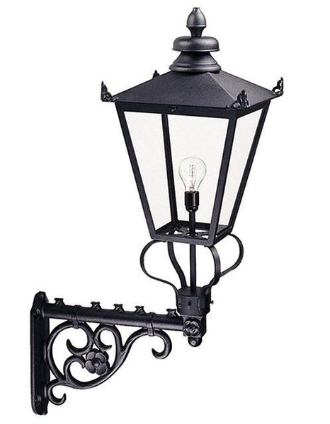 Wilmslow Wall Lantern Black - London Lighting - 1