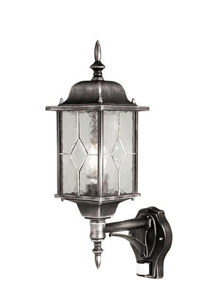 Wexford Up Wall Lantern with PIR - London Lighting - 1