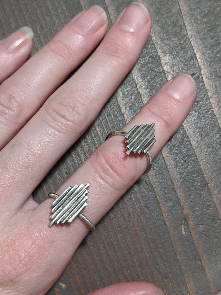 Aztec Sterling Silver Ring - Various Sizes Available