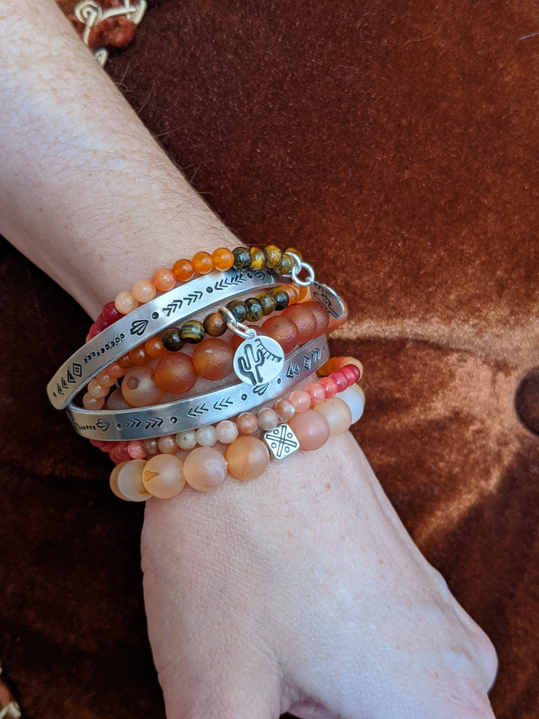 Handstamped Desert Sun Collection Limited Edition Cuff