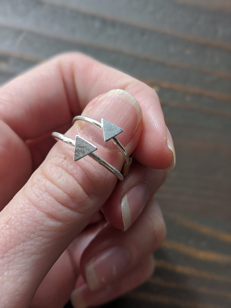 Sterling Silver Triangle Ring (Various sizes available)