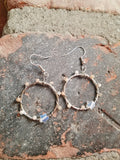 Opalite Star Silver Earrings