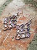 Purple Ombre Chandelier Earrings