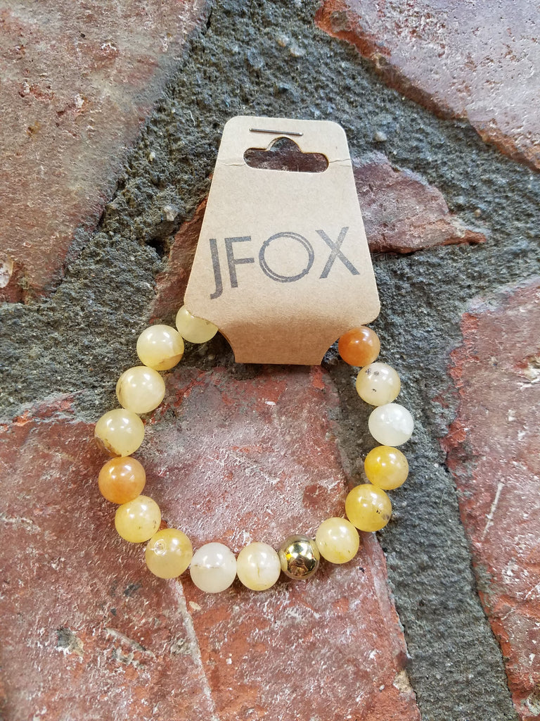 Orange Agate and Gold Hematite 10mm bracelet