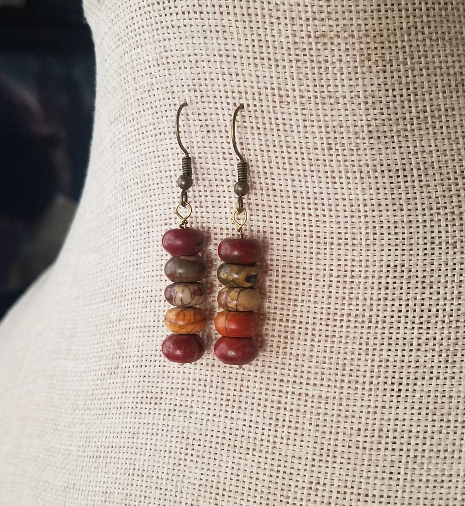 Picasso Jasper Drop Earrings (Various Metals Available)