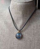 Galaxy Dichroic Glass Choker Necklace
