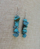 Howlite Chip Drop Earrings (Various Colors Available)