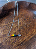 Rainbow Pride Necklace on Sterling Silver