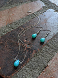 Amazonite Tear Drop Necklace on Sterling Silver