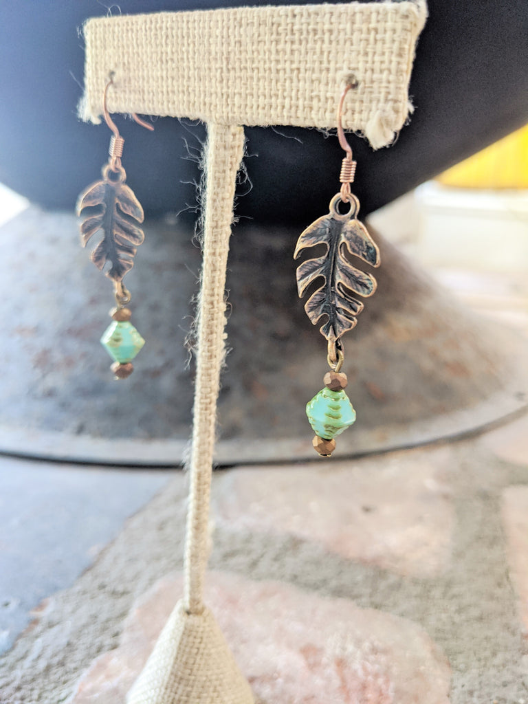 Monstera Leaf Earrings - (Brass and Silver available!)