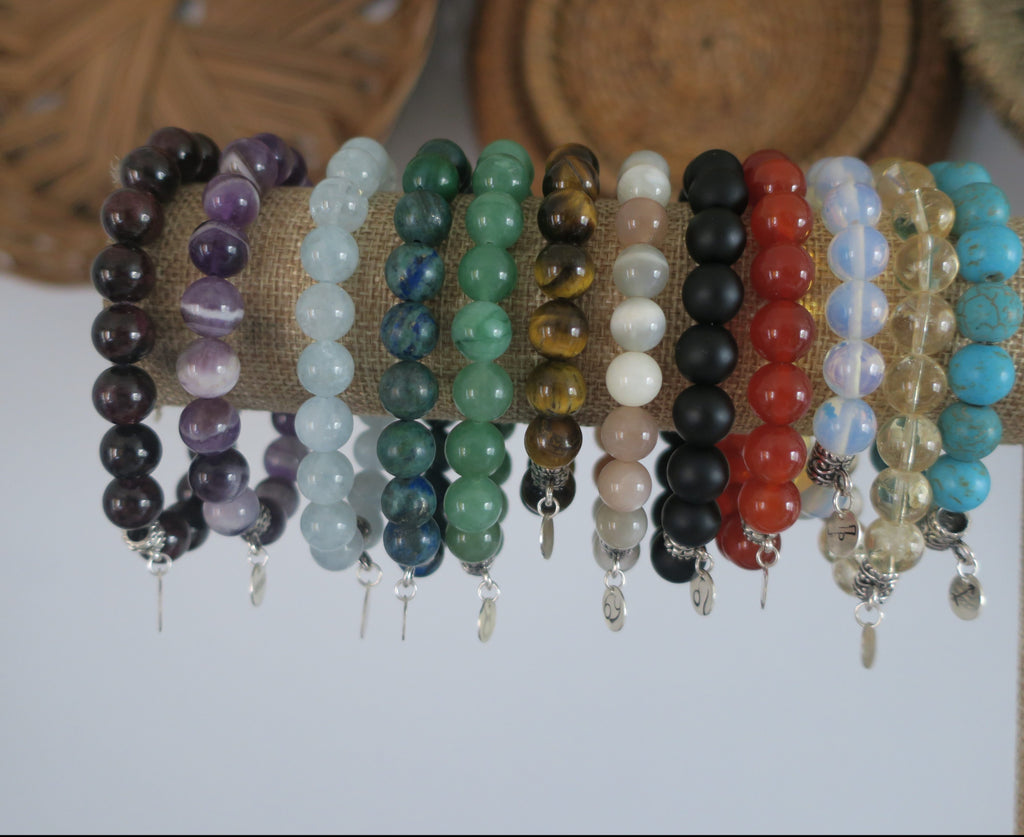 Birthstone and Zodiac Sign Bracelets (All Signs Available!)