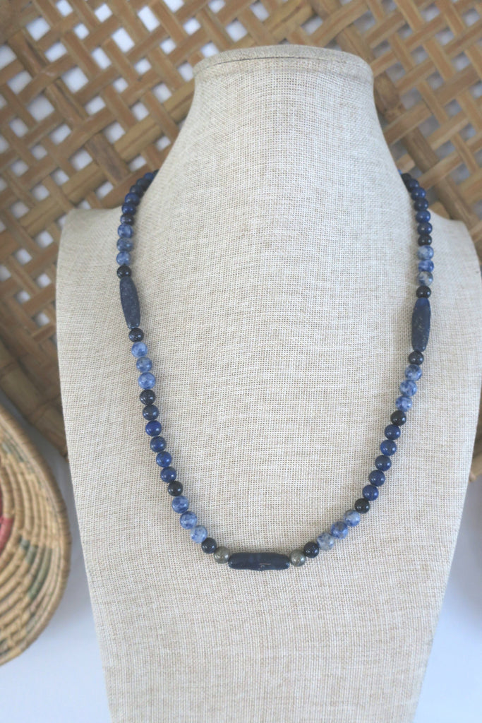 Lapis Lazuli and Sodalite Statement Necklace