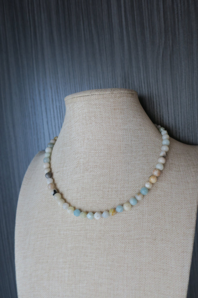 Amazonite Short Statement Necklace