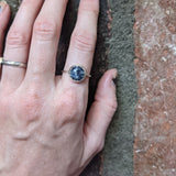 10mm Sodalite Sterling Silver Ring - Various Sizes Available