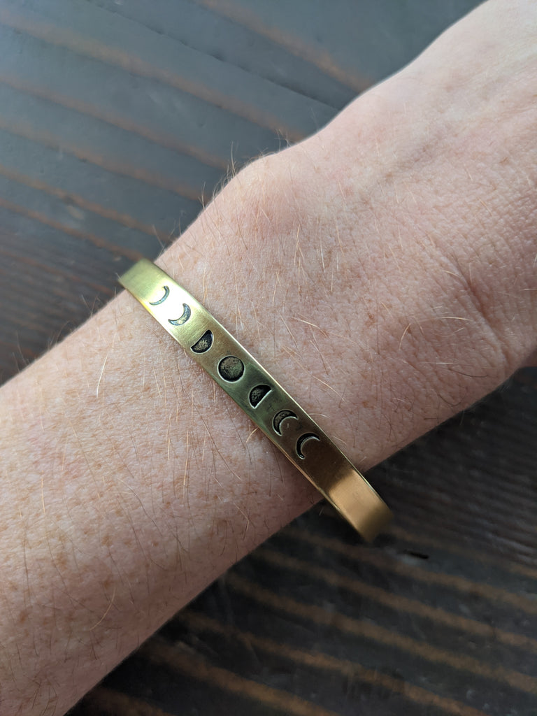Hand Stamped Cuff (Various Designs Available)
