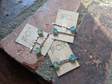 Blue-green Druzy Bobby Pin Set of 2
