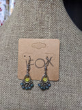 Blue and Yellow Small Chandelier Earrings