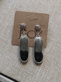 Large Oval Apache Gold Sterling Statement Earrings