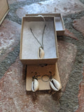 Cowrie Shell Necklace and Earrings Gift Set