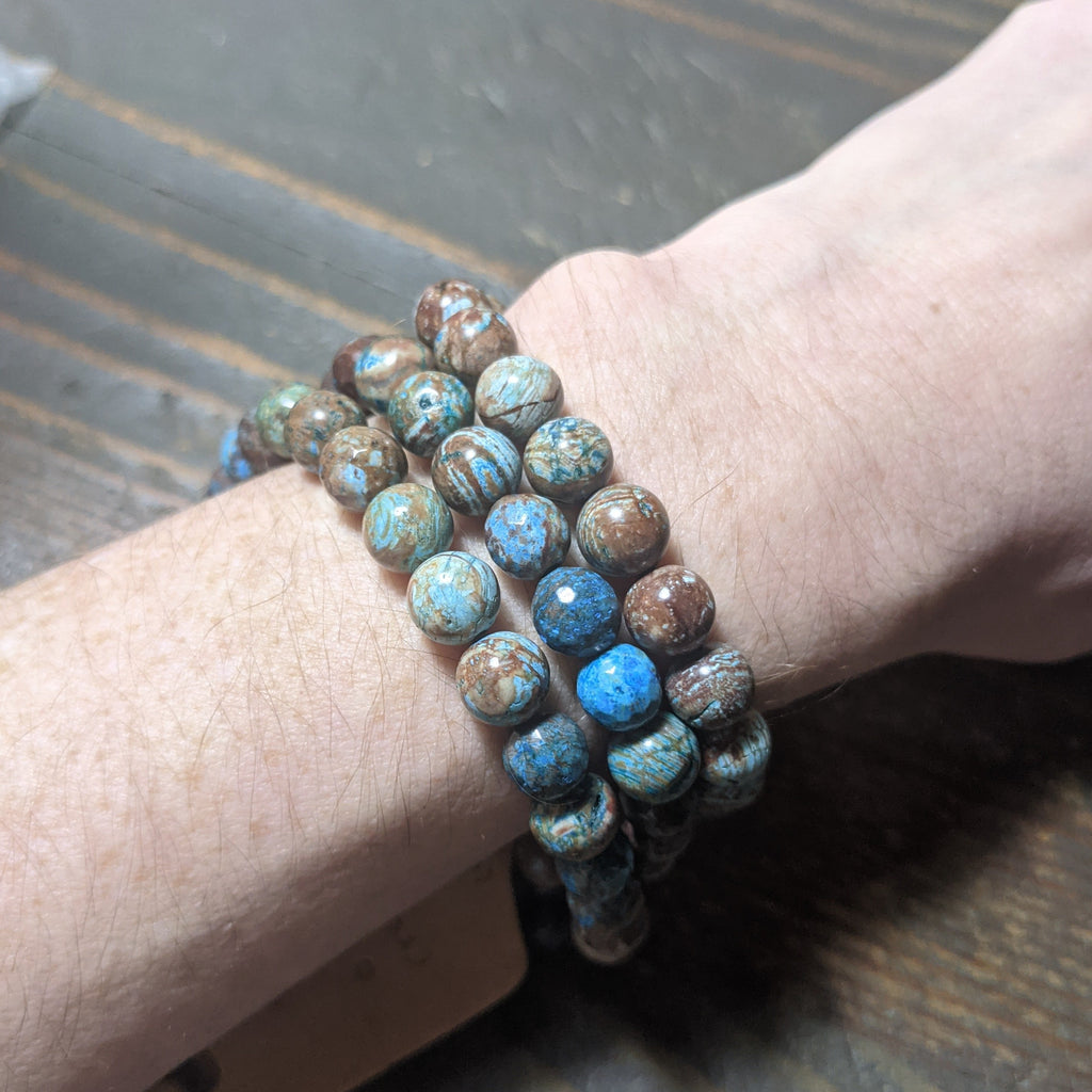 Crazy Blue Lace Agate Bracelet