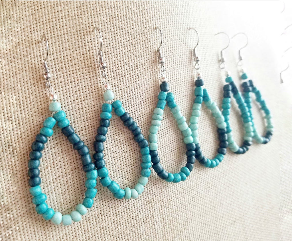Turquoise Blue Loop Earrings