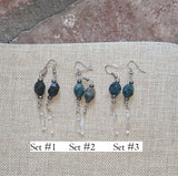 Apatite and Crystal Drop Earrings