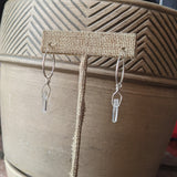 Quartz crystal Sterling Silver Hoops