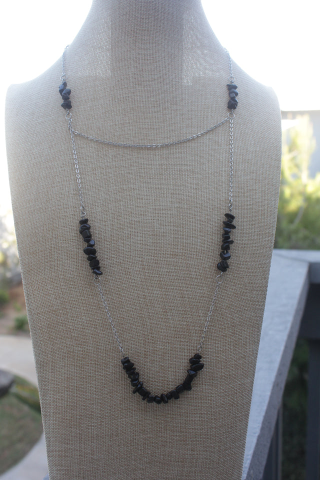 Double Layer Onyx Necklace