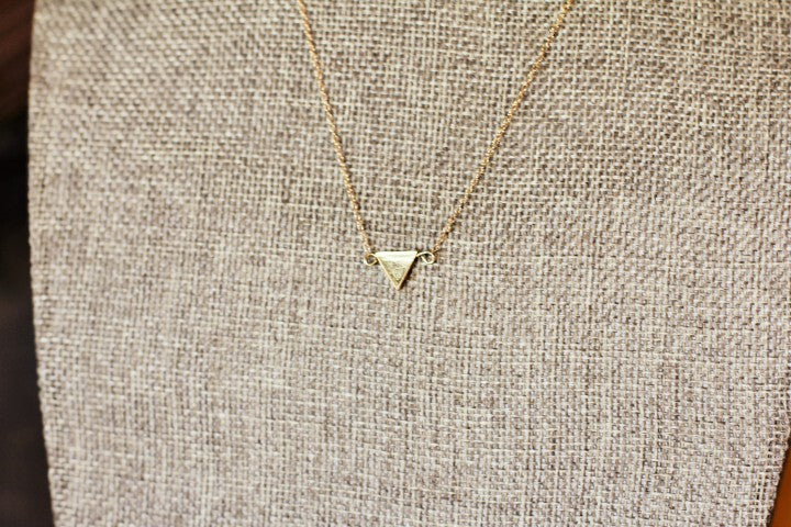 Triangle Pendant on 14k Gold Fill