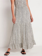 Maxi flounce nederdel