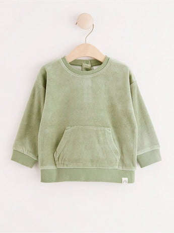 Velour sweatshirt