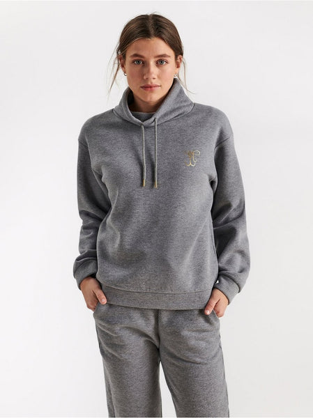 31/5000 Sweatshirt med stand-up krave