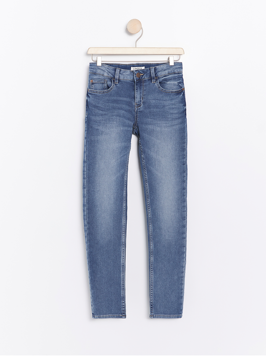 Slim fit jeans i denim jersey
