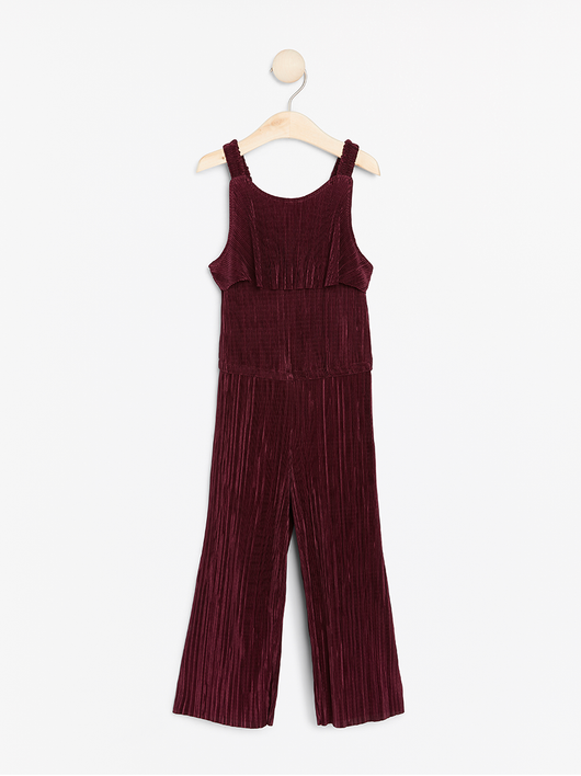 Bordeaux plisseret jumpsuit