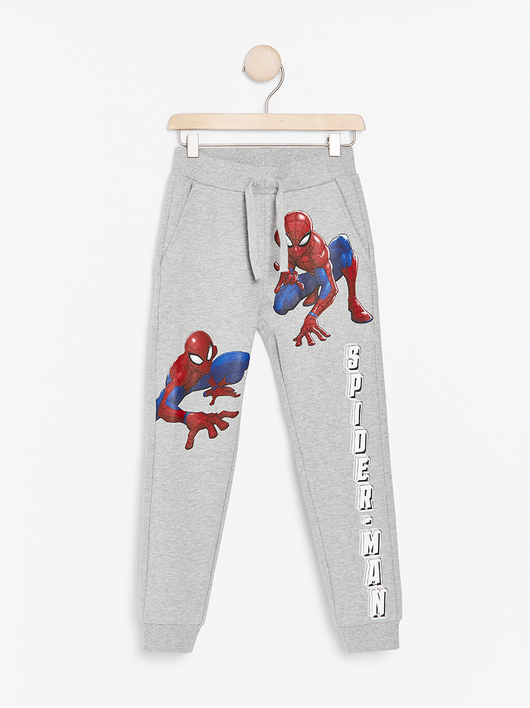 Grå sweatpants med Spider-Man print