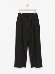 High waist bukser med wide leg