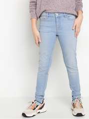 Lyseblå slim fit cropped jeans
